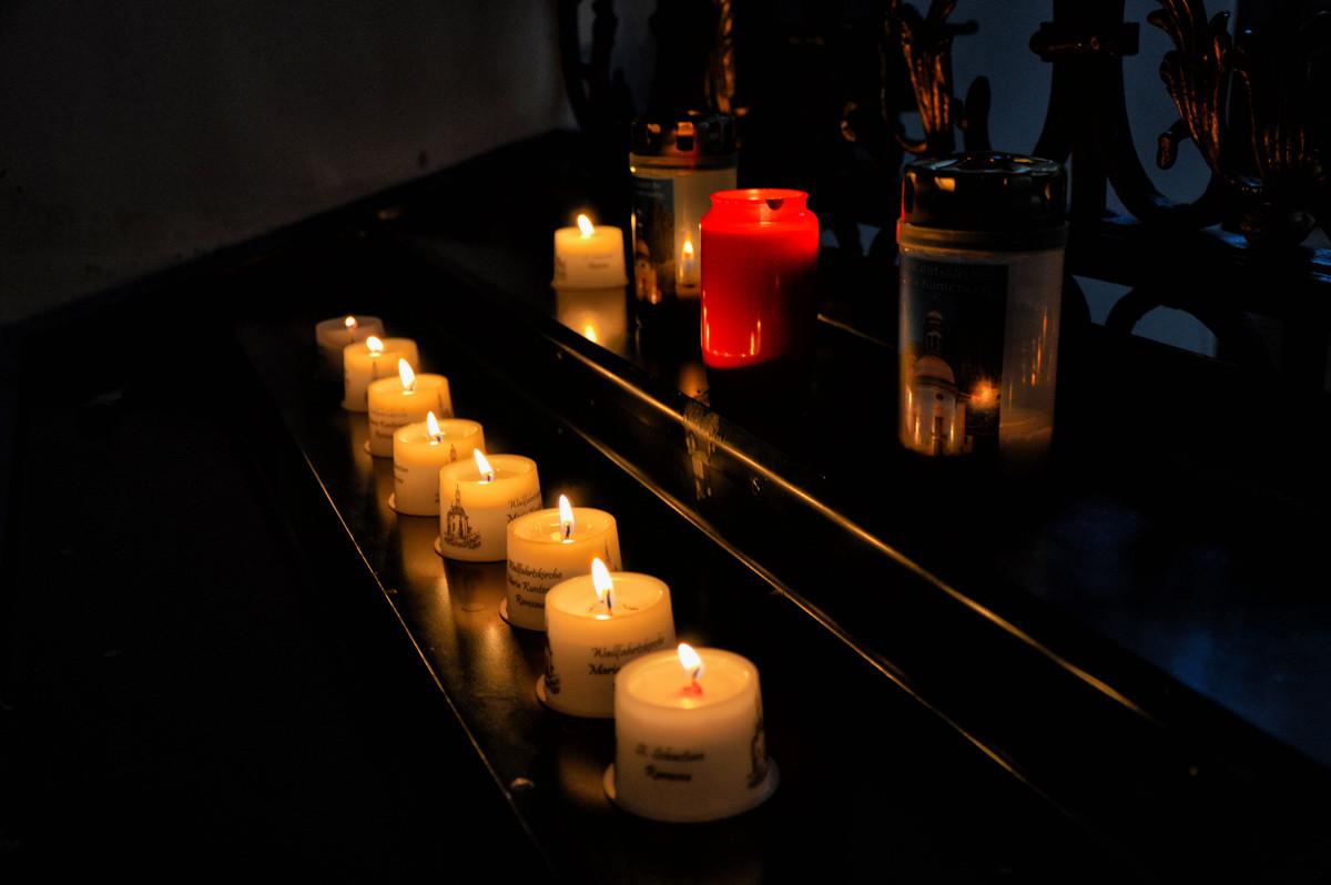 Kerzen in der Kunterwegkirche