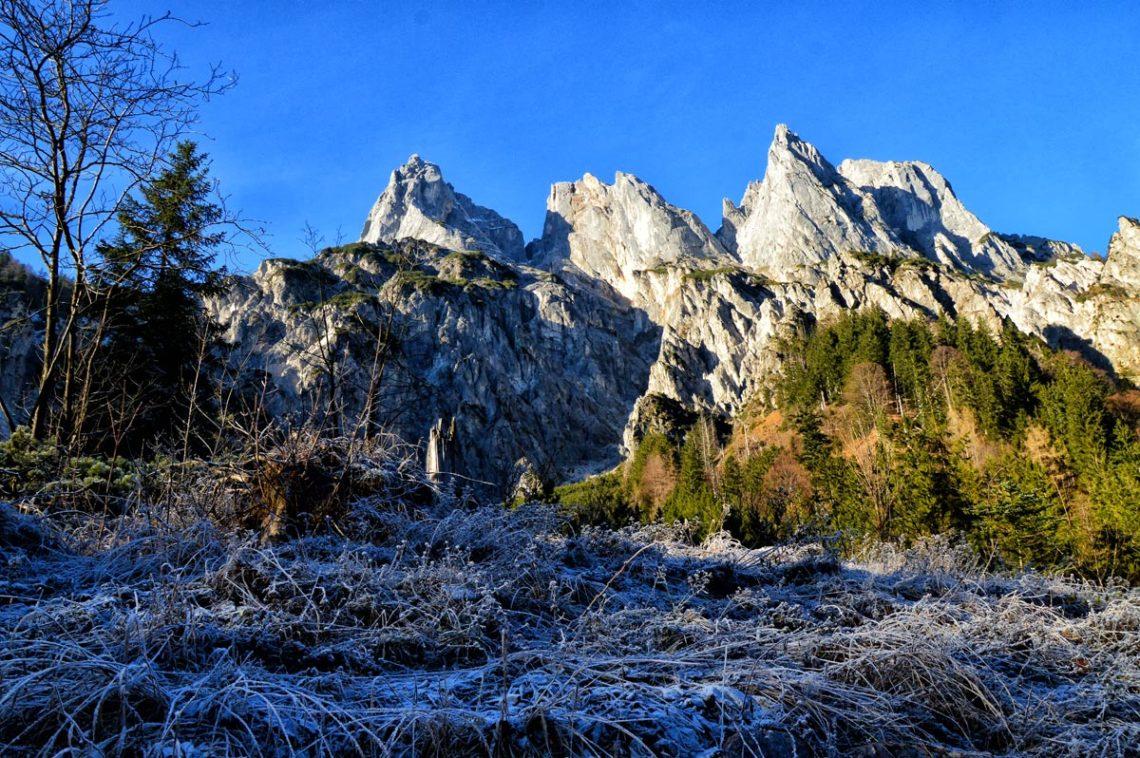Die Ramsauer Dolomiten über dem Klausbachtal