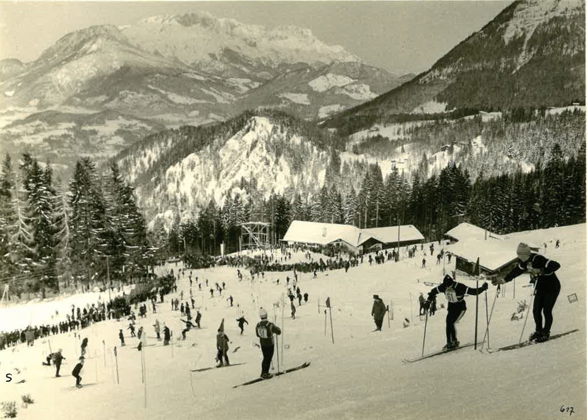 Ski Weltcup an der Mittelstation der Jennerbahn © TRBK