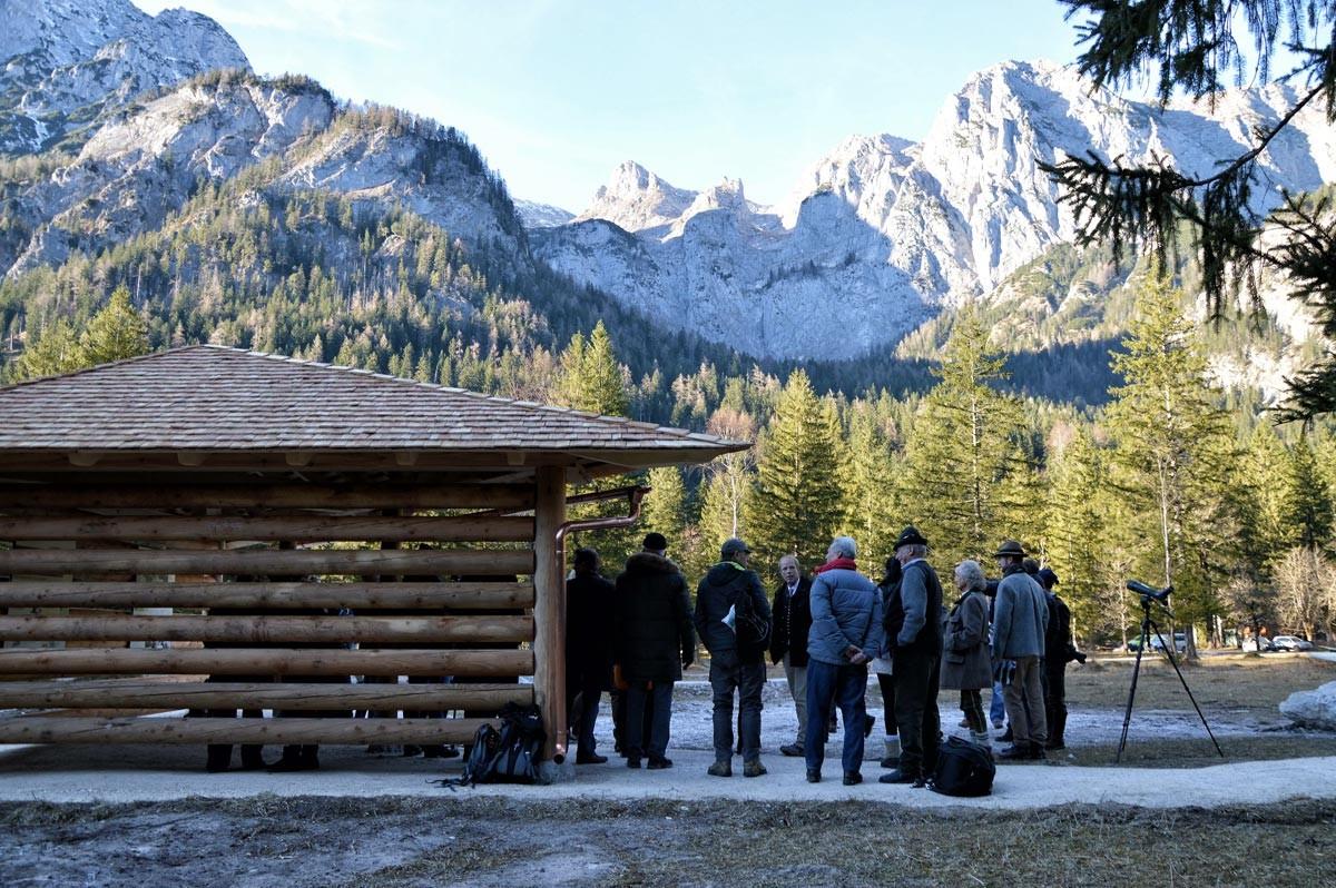 Die neue Steinadler Beobachtungsstation im Klausbachtal