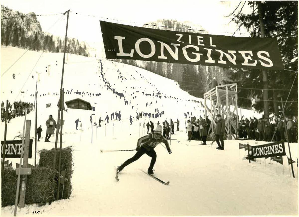 Zieleinlauf des ersten Weltcup Slaloms 1967 © TRBK