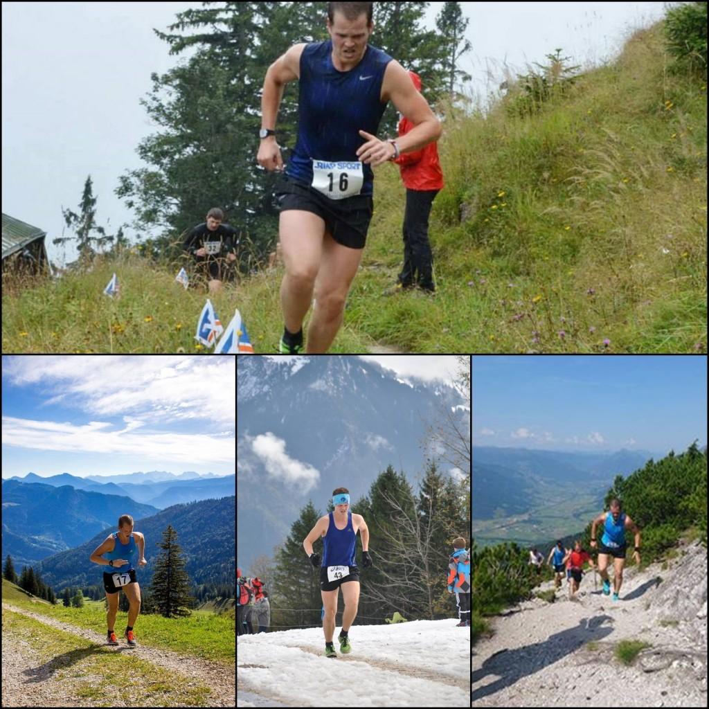 Benjamin's Teilnahme an diversen Berglaufwettkämpfen