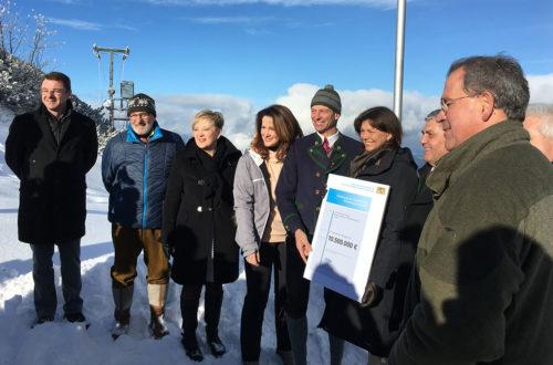 Übergabe Förderbescheid Jennerbahn, 3. Januar 2017
