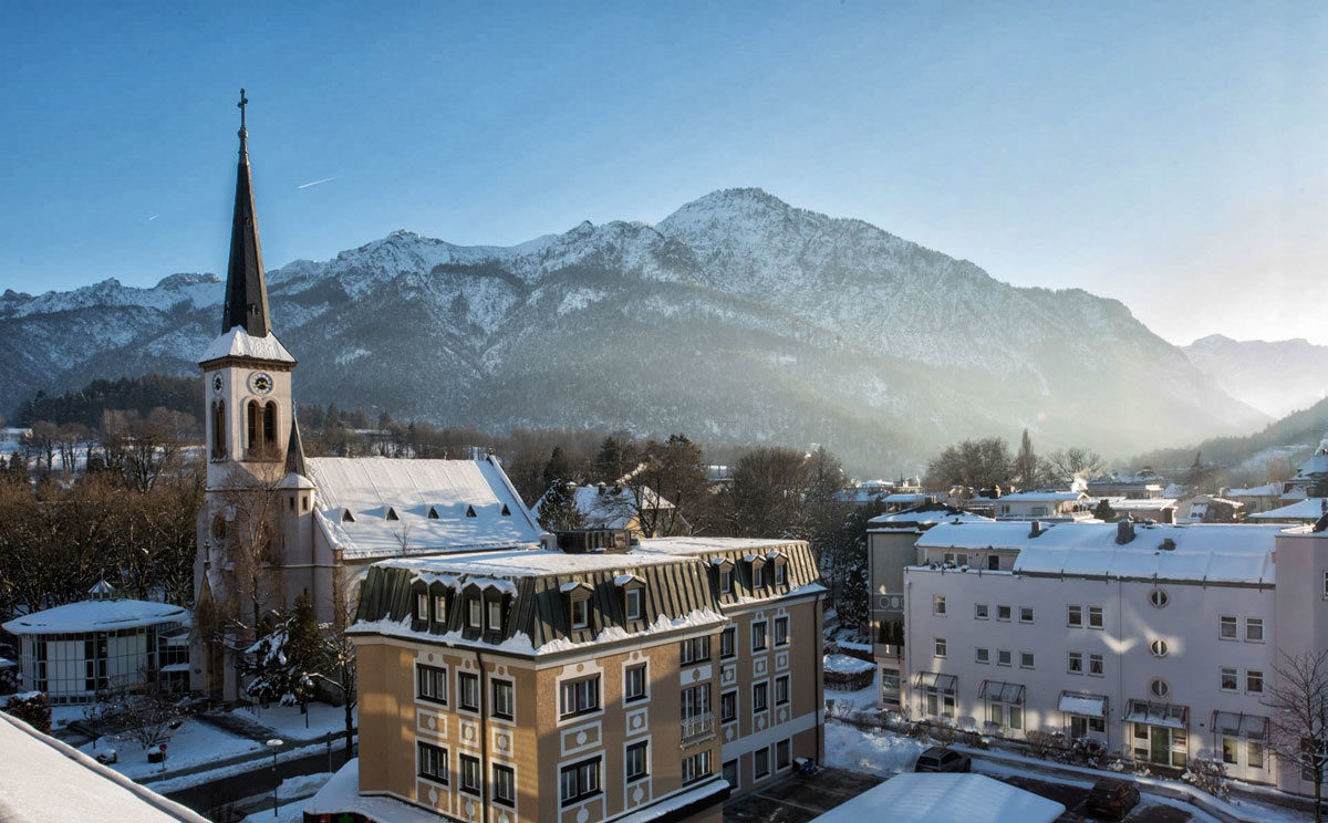 Winter in der Alpenstadt Bad Reichenhall
