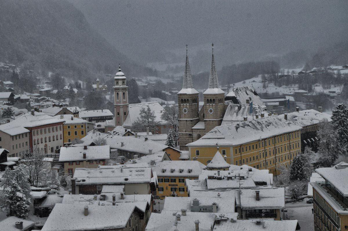 Blick vom Kalvarienberg auf den Markt Berchtesgaden