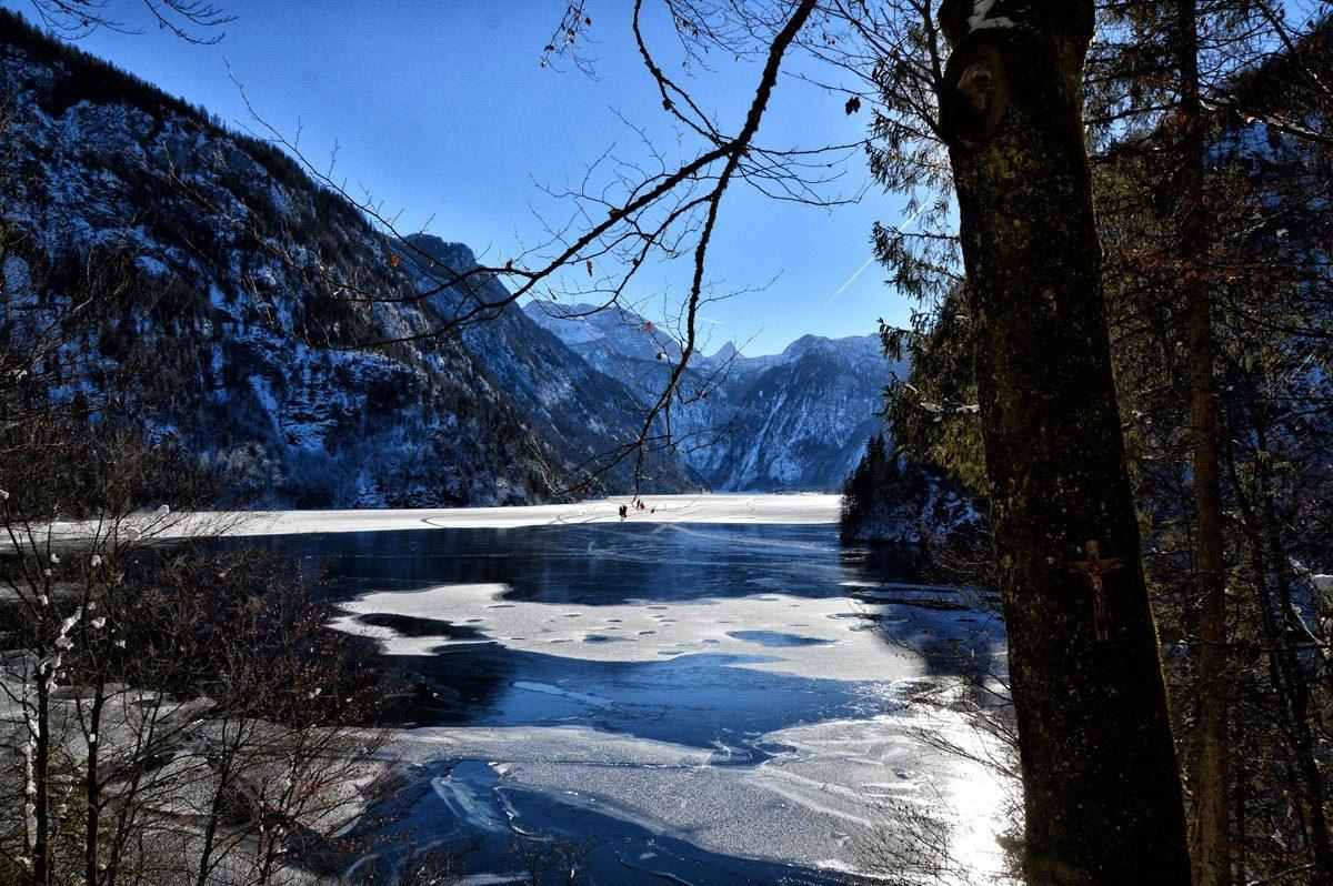 Eisschicht auf dem Königssee