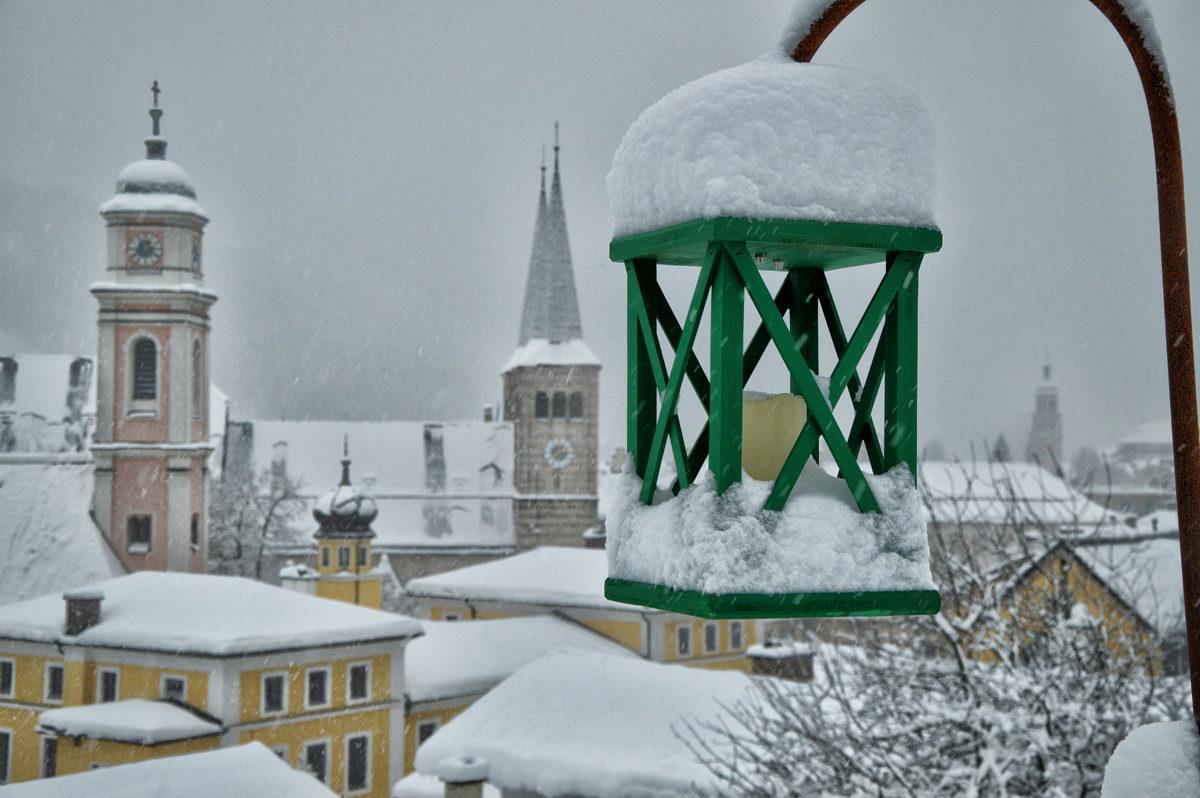Laterne am Berchtesgadener Emmausweg