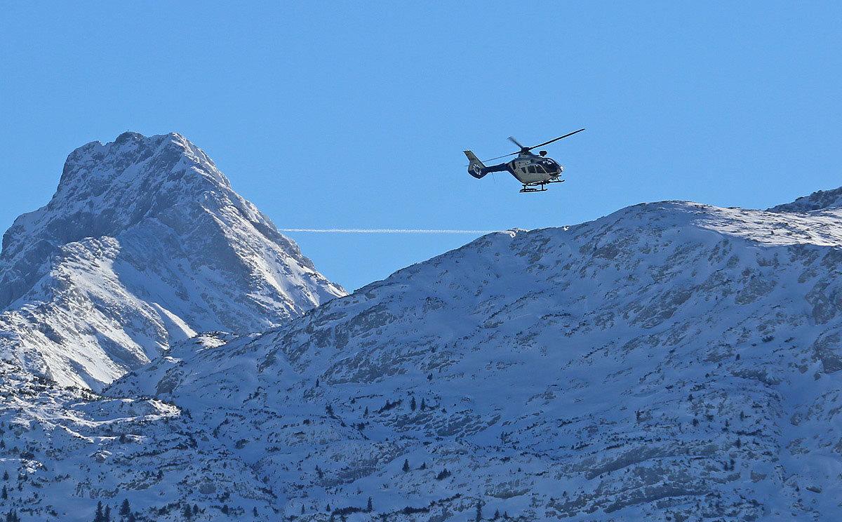Rettungshubschrauber über der Reiter Alm © BRK BGL