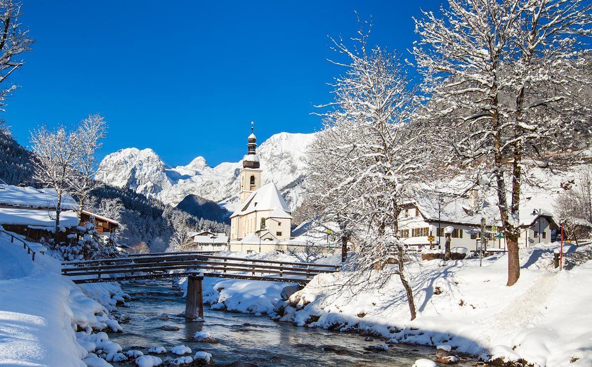 Winter im Bergsteigerdorf Ramsau