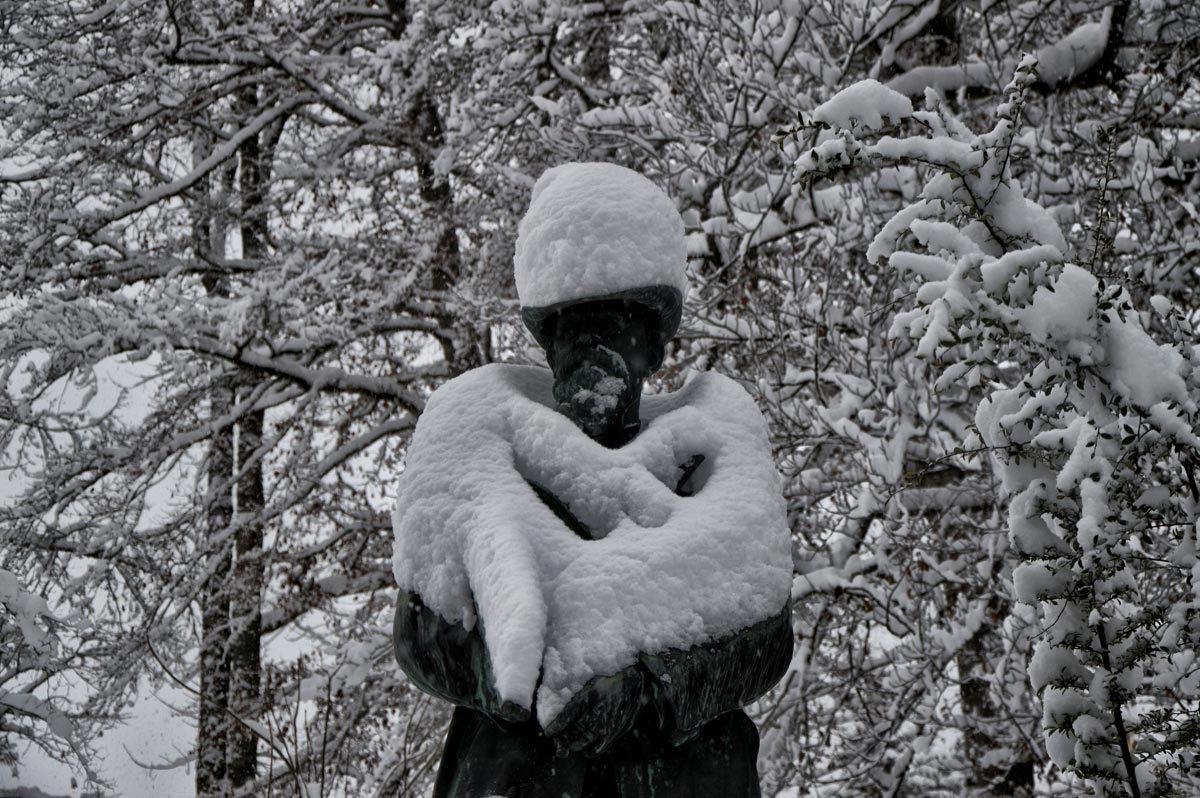 Prinzregent Luitpold Denkmal im Luitpoldpark Berchtesgaden