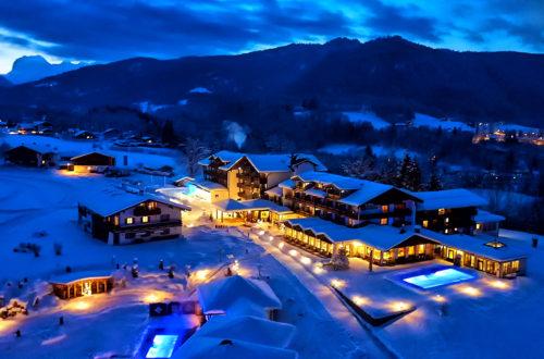 Eine Winternacht am Zechmeisterlehen in Schönau am Königssee