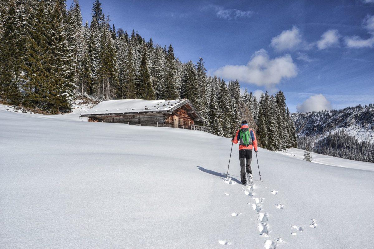 Winterwanderung zur Moosenalm im Lattengebirge