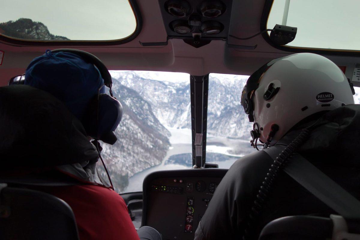 Mit dem Hubschrauber über den Königssee zum Funtenseetauern © www.foto-webcam.eu
