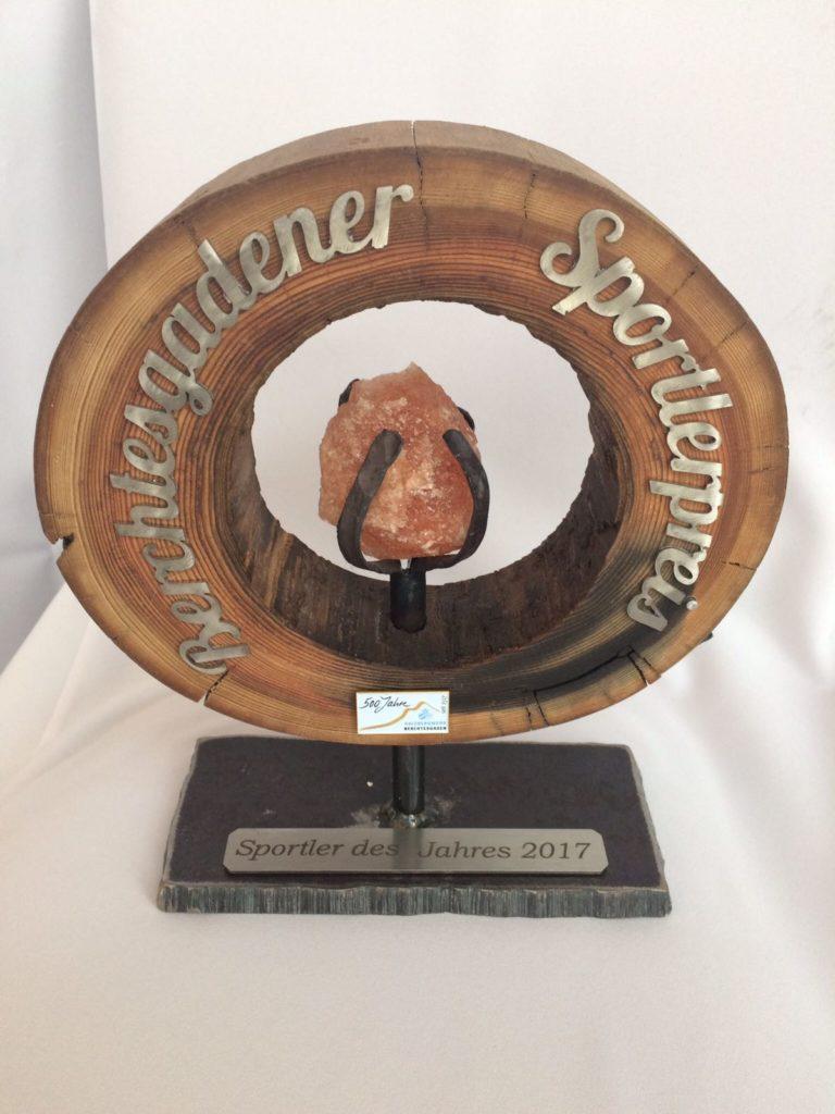 Der Pokal wird vom Salzbergwerk Berchtesgaden gestiftet