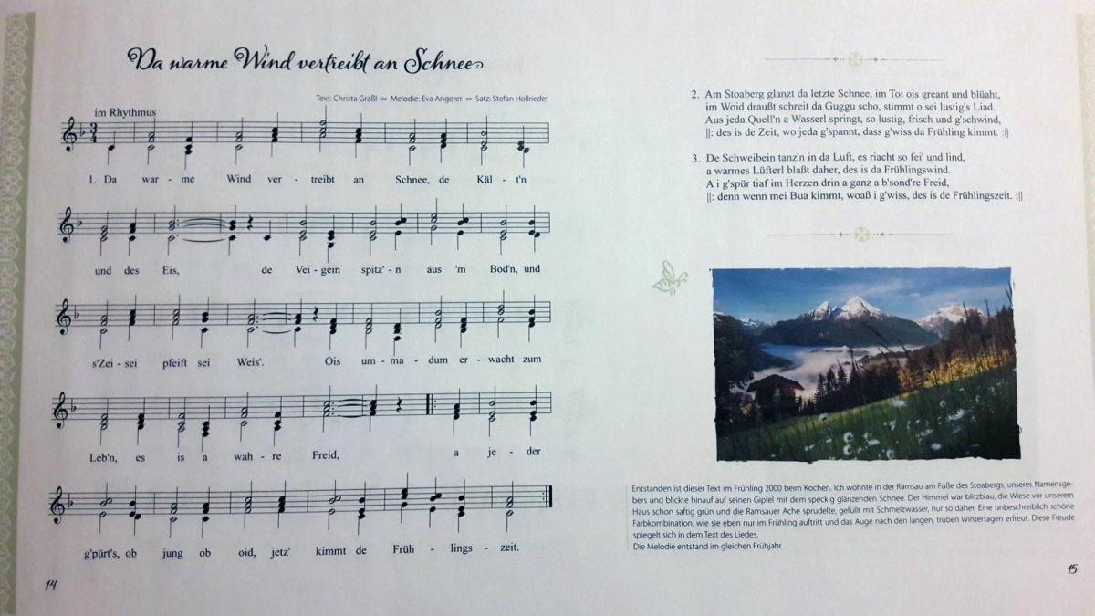 Das Liederbuch der Stoaberg Sängerinnen