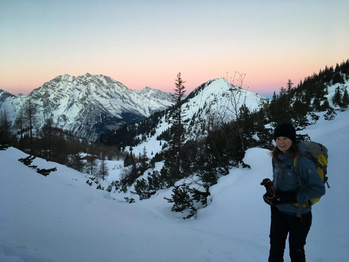 Morgenstund und Morgenrot – Esther Baum im Anstieg auf den Schneibstein