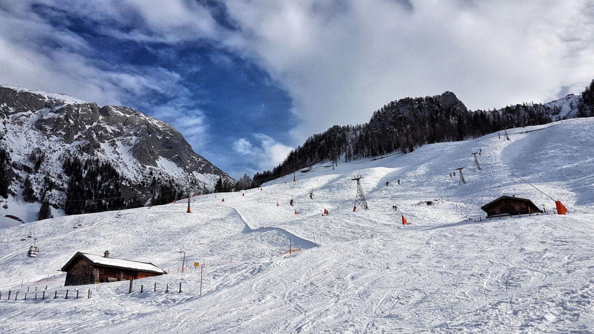 An der Mittelstation des Skigebiets Jenner