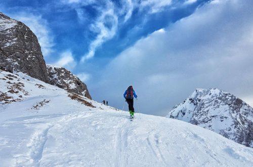 Die letzten Meter der Skitour auf die Hohen Rossfelder