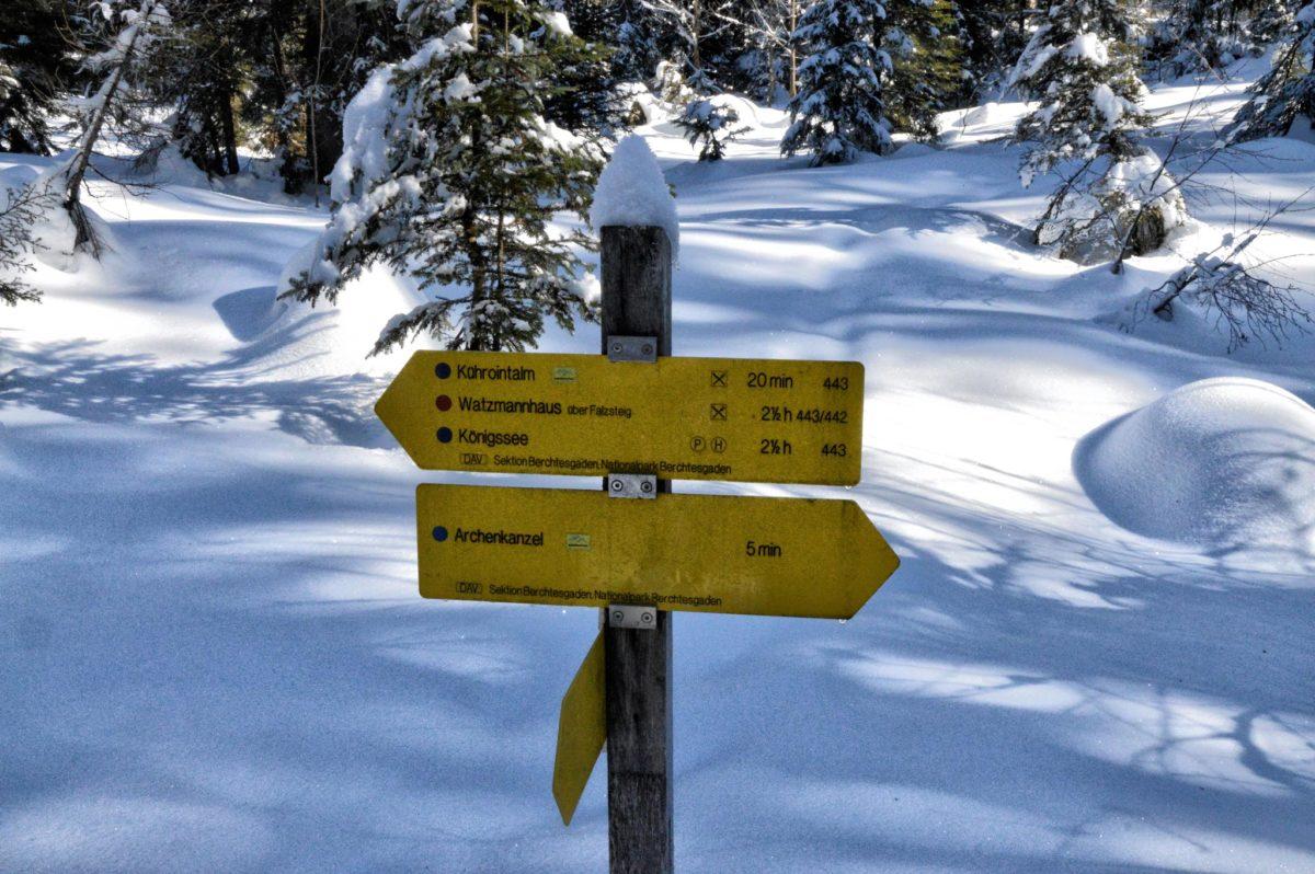Tiefster Winter am Weg von Kühroint zur Archenkanzel