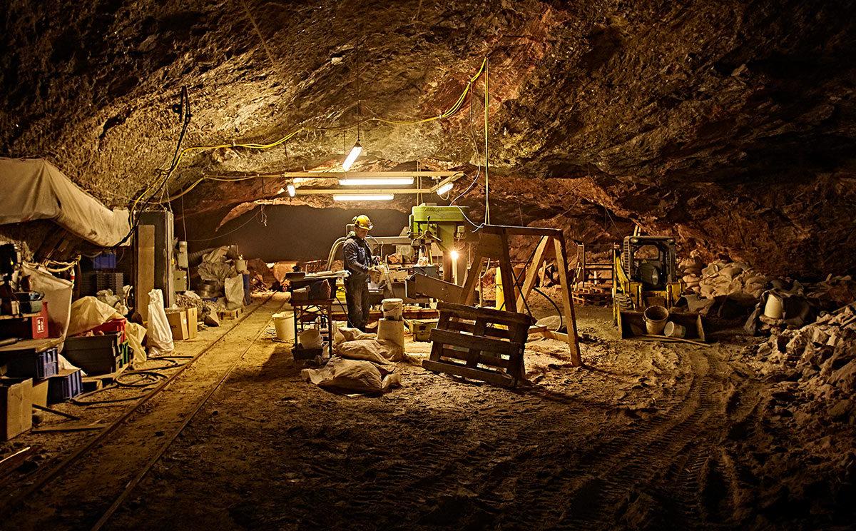 Arbeiten unter Tage im Salzbergwerk Berchtesgaden © www.bayern.by - Gert Krautbauer