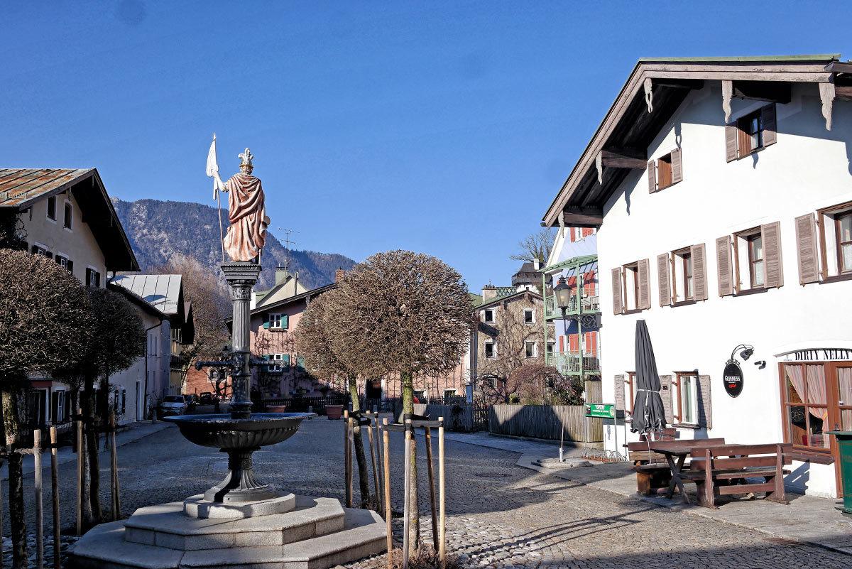 Der Florianiplatz in Bad Reichenhall: Drehort von Lena Lorenz