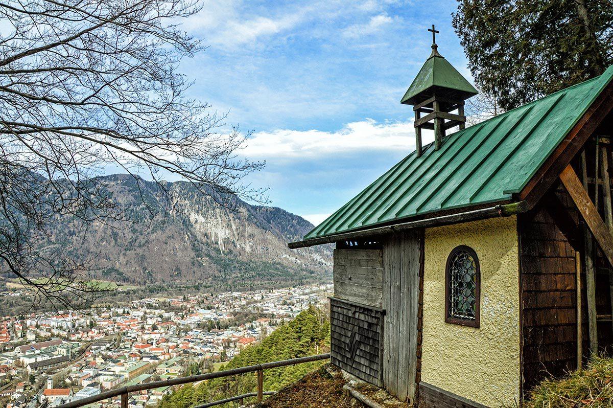 Die Bildstöcklkapelle ober der Alpenstadt Bad Reichenhall