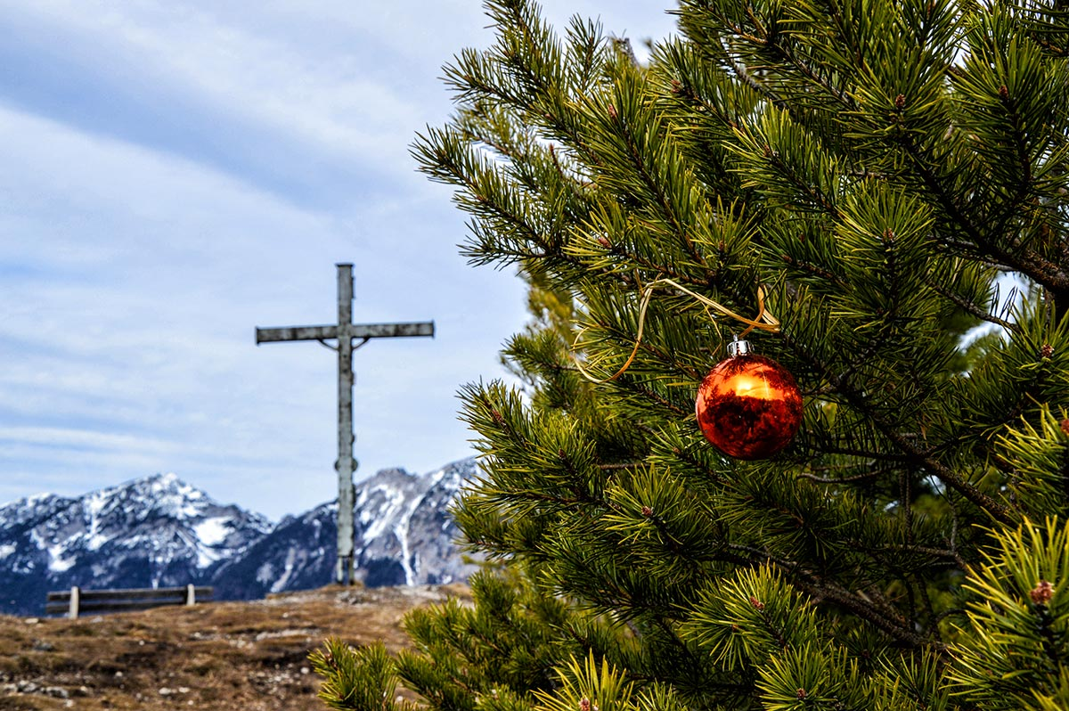 Einzelne Christbaumkugeln.Frühlings Wanderung Auf Dem Dötzenkopf Rundweg