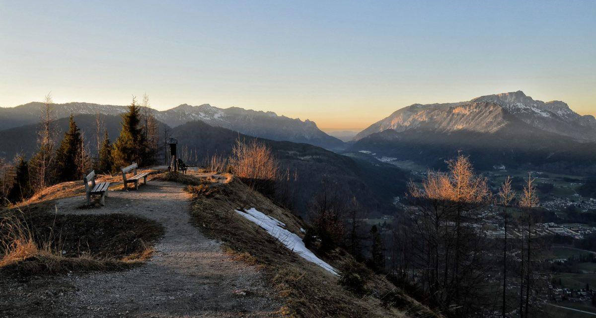 Blick vom Grünstein zu Lattengebirge und Untersberg
