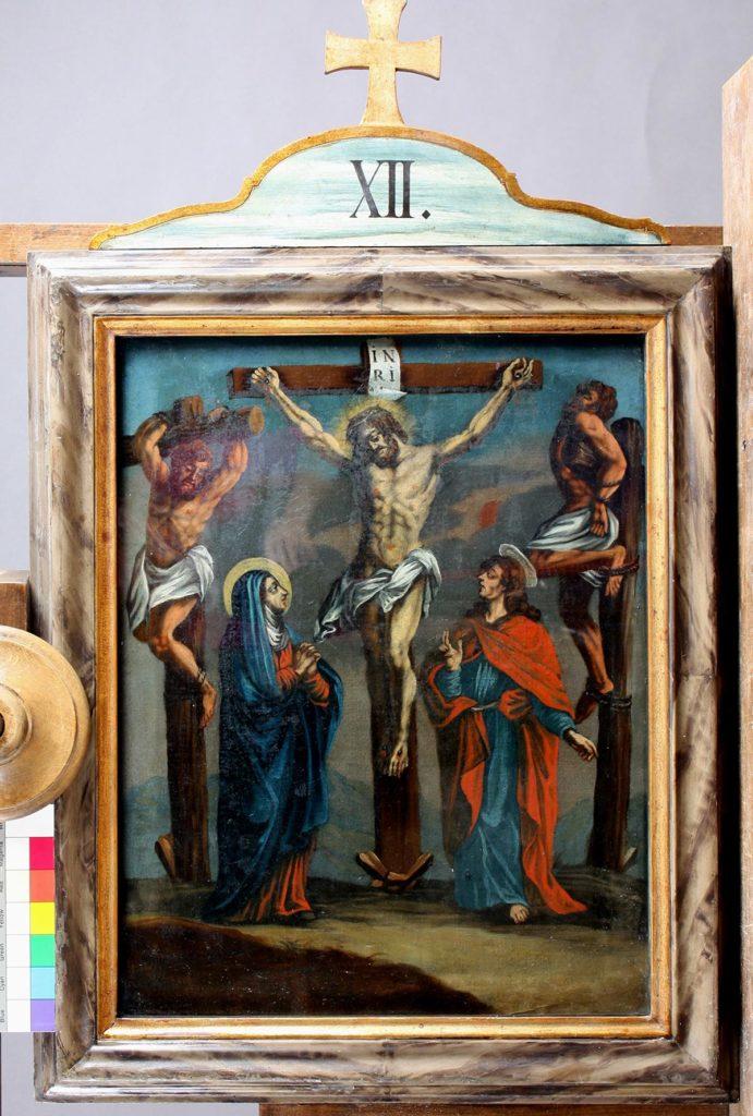 """Gemälde """"Die Kreuzigung"""", fertig restauriert © Bayerische Schlösserverwaltung"""