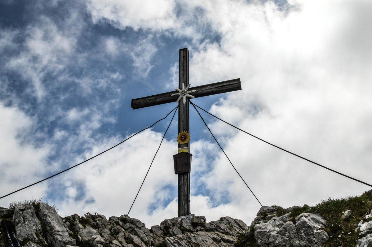 Das Gipfelkreuz auf dem Seehorn 2.321 m