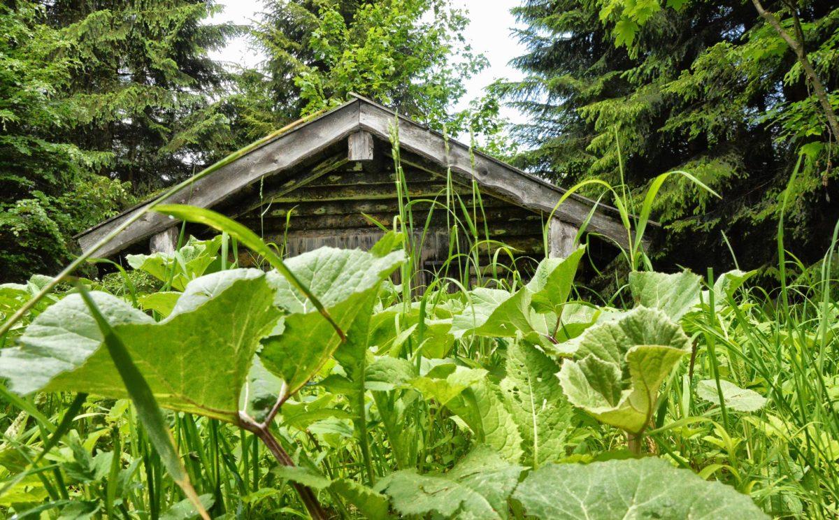 Eine kleine Hütte an den Kehlsteinwegen