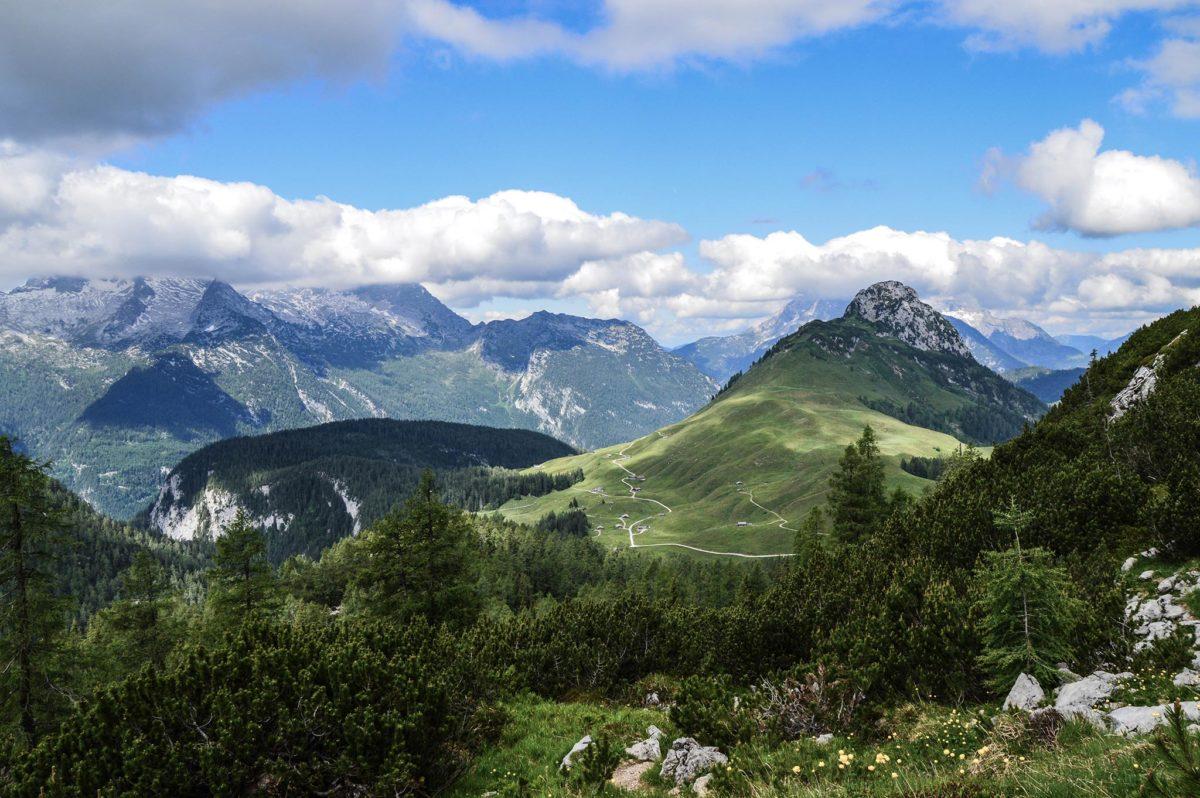 Blick zurück zur Kallbrunnalmv