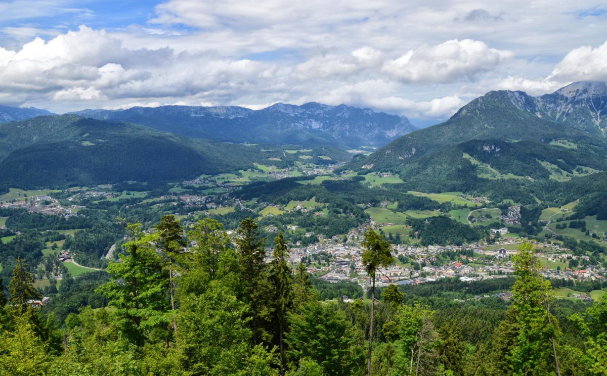 Blick ins Berchtesgadener Tal