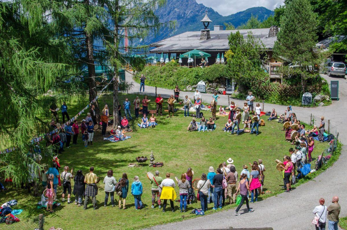 Alpenschamanen Treffen an der Wolfschwang Alm