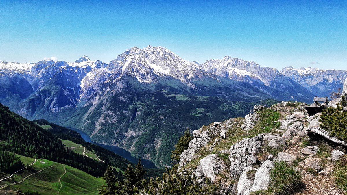 Ausblick vom Kehlstein auf den Königssee