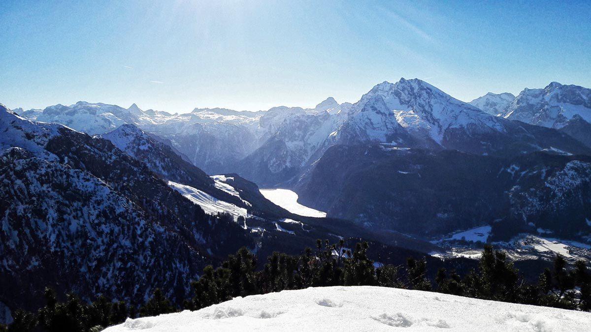 Der Königssee im Winter: Weitsicht vom Kehlstein