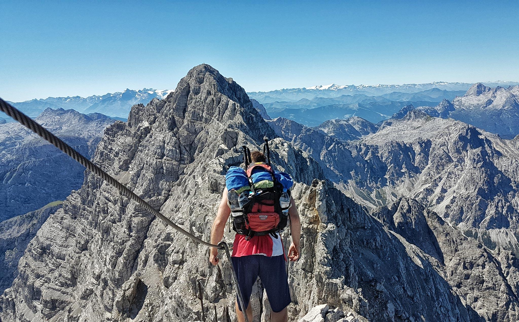 Hindelanger Klettersteig Ungesicherte Stellen : Käsch kraxel am hindelanger klettersteig