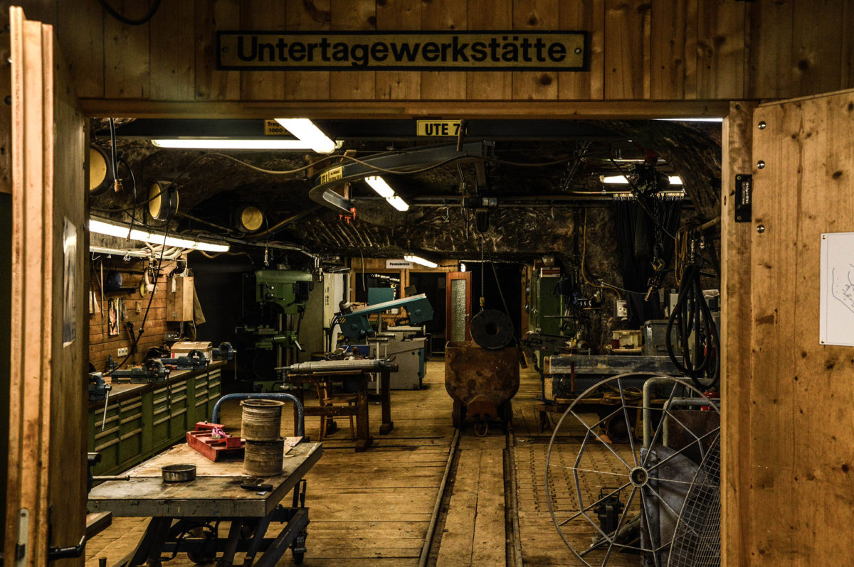 Die Untertagewerkstätte im Salzbergwerk Berchtesgaden