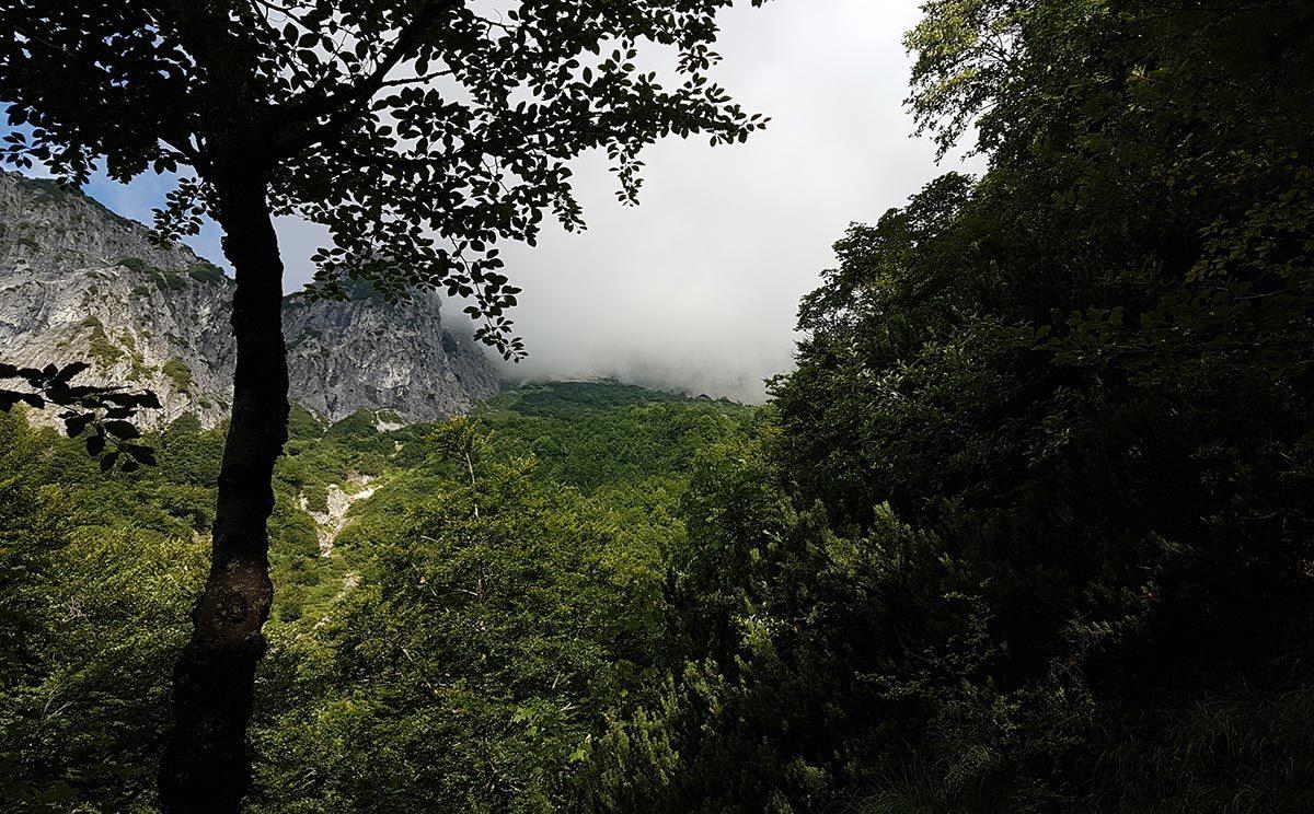 Erster Blick zur Toni Lenz Hütte