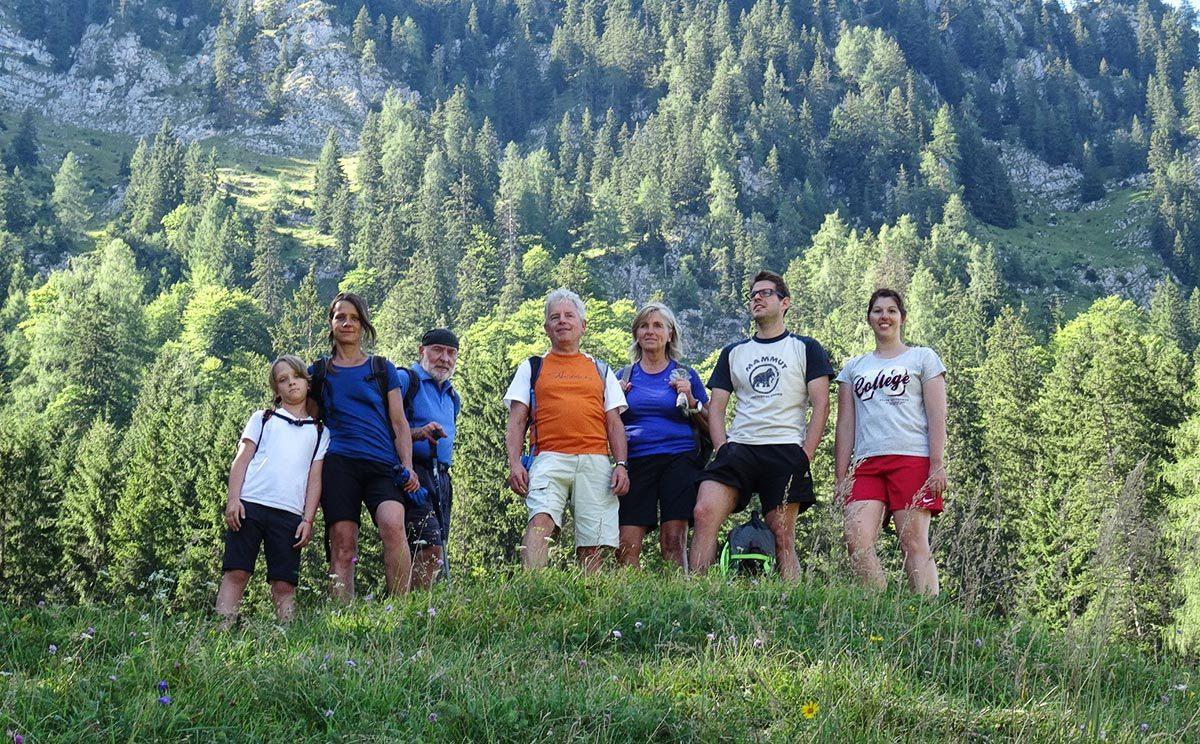 Die Almputzer der Schwendaktion © Biosphärenregion Berchtesgadener Land