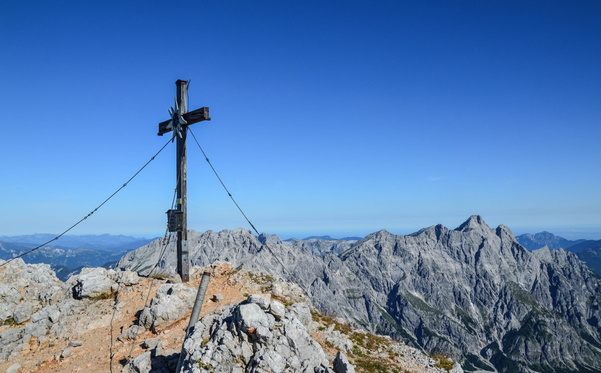 Gipfelkreuz Großer Hundstod (2.594 Meter)