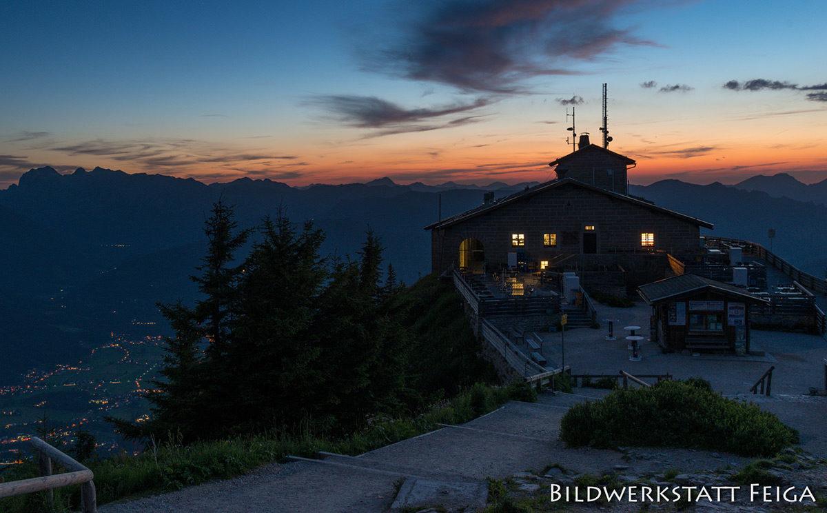 Nacht über dem Kehlsteinhaus
