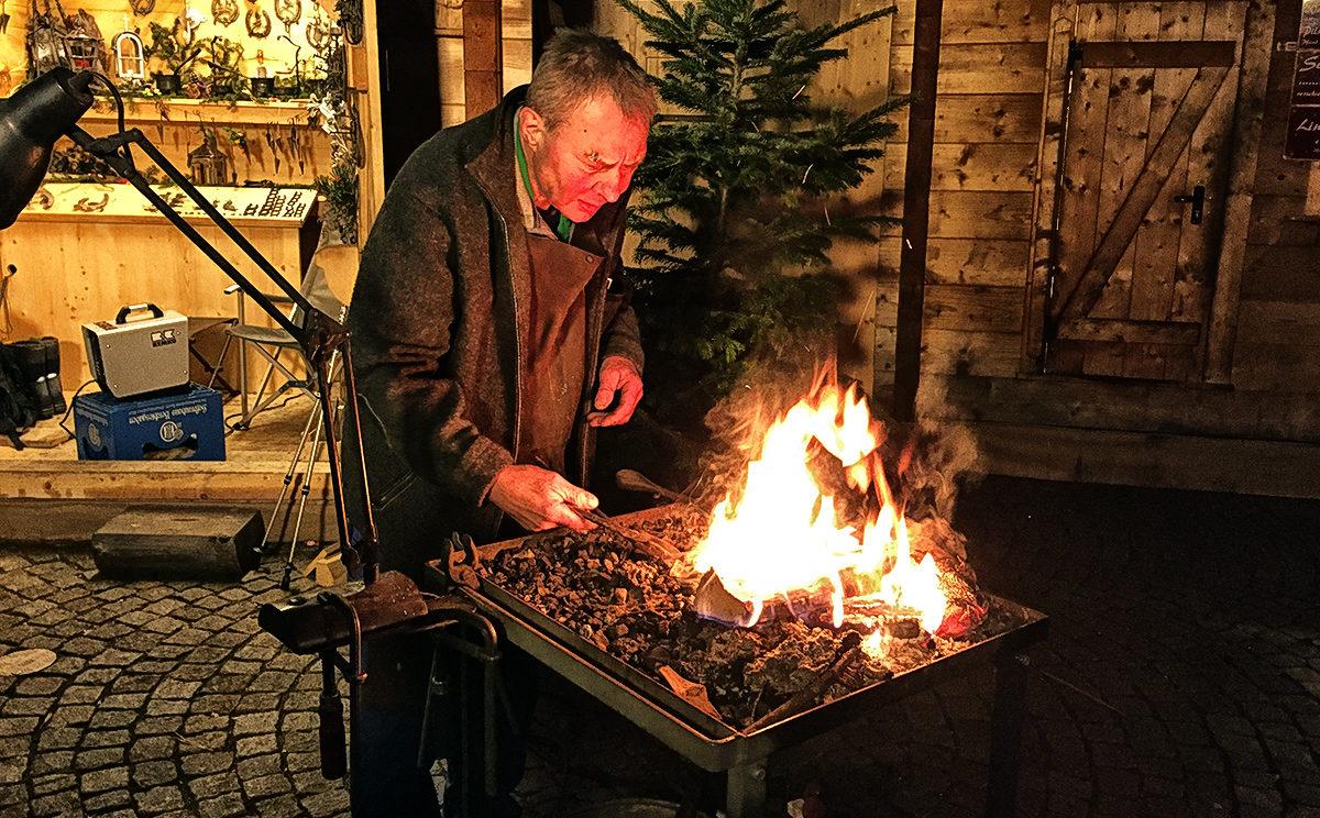 Schmied beim Berchtesgadener Advent