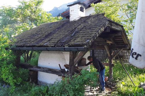 Der alte Bauern-Steinofen in Bischofswiesen