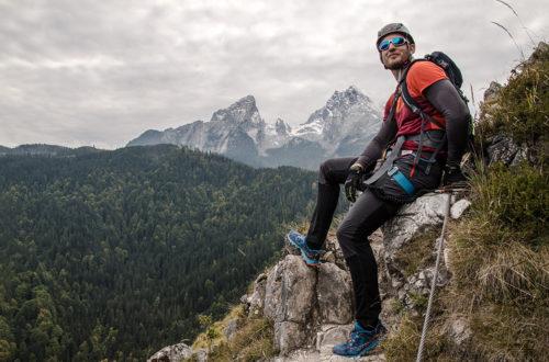 Grünstein: Klettersteig mit Watzmannblick