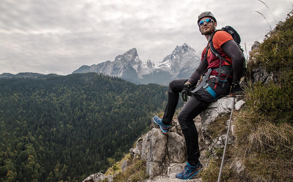 Klettersteig Himmelsleiter : Der zittergrat klettersteig kein eisenmangel am brunnistöckli