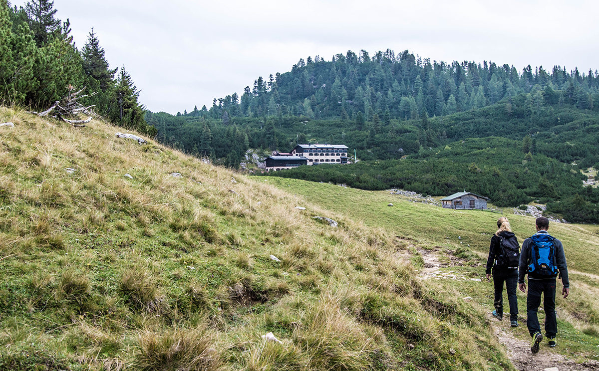 Unterwegs zur Neuen Traunsteiner Hütte auf der Reiter Alm