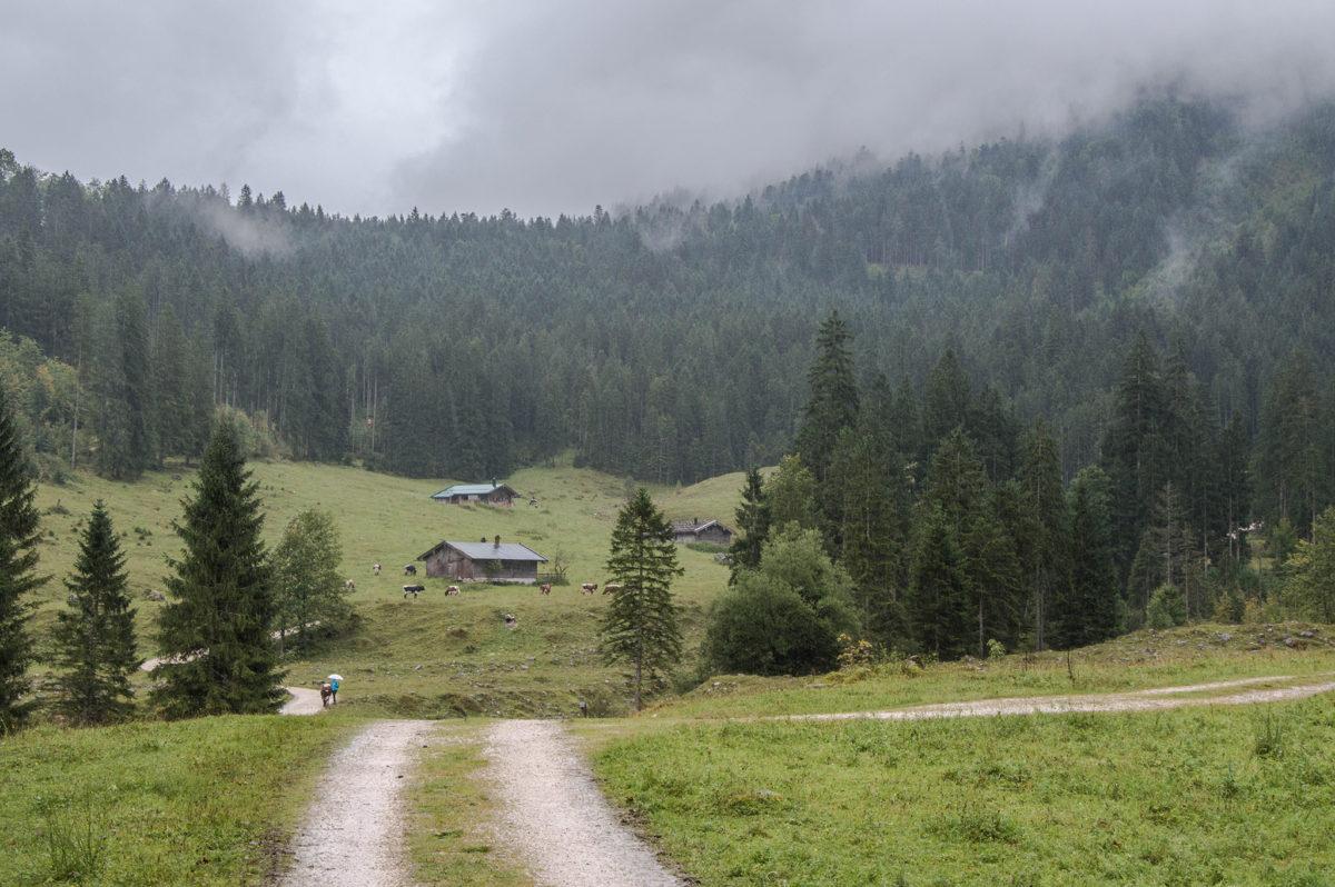 Die Schwarzbachalm unterhalb vom Wachterl