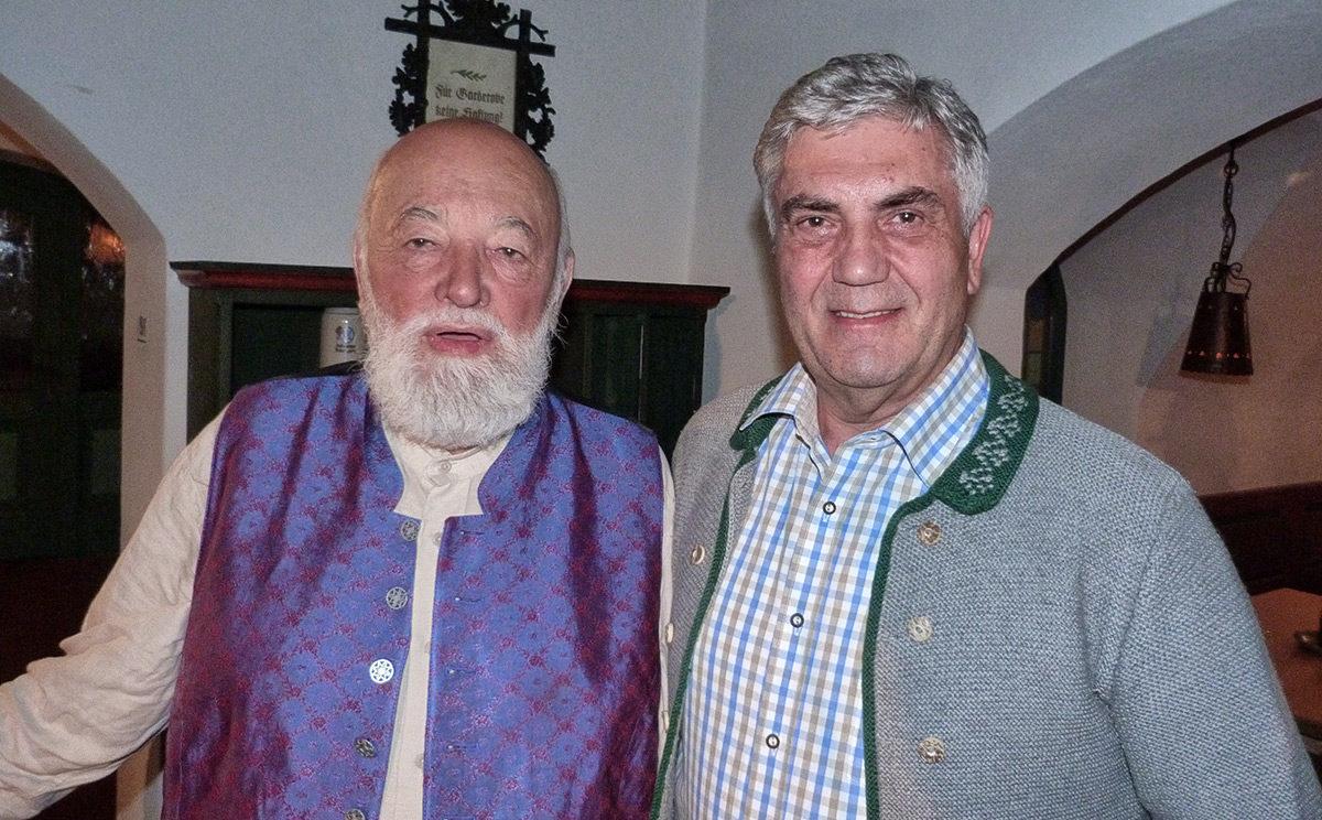 Sepp Forcher und Hotelier Peter Hettegger