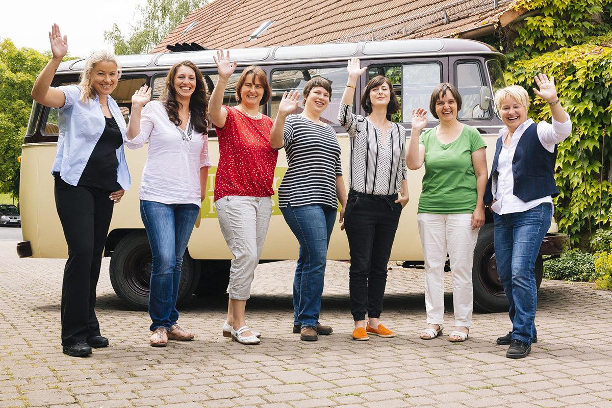 Landfrauenküche 2017 mit Cathi Lichtmannegger (2.vl)